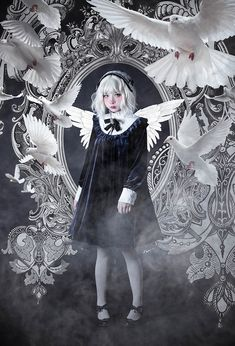 Lost Angel -The Ring of The Witch- Gothic Lolita OP Dress Short Version