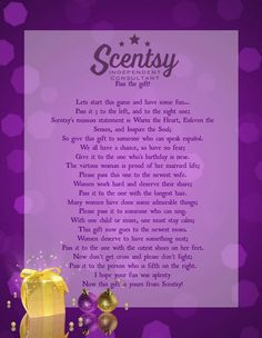 #Scentsy #Game https://carriepuiras.scentsy.ca/