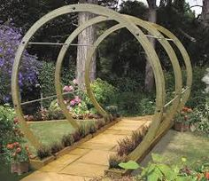 Image result for curved wooden garden arch