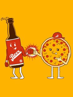 Nothing goes together better than these two… #PizzaAndBeer