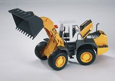 The Liebherr L574 Articulated Road Loader from the Bruder Construction collection - Discounts on all Bruder Toys at Wonderland Models.    One of our favourite models in the Bruder Construction range is the Bruder Liebherr L574 Articulated Road Loader.    This Articulated Road Loader bends in the middle for a smaller turning circle. The back wheels have independent suspension and sculpted rubber tyres.