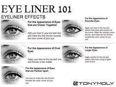 Eyeliner helps set your eyes off. Here are some eyeliner tips and tricks. All Things Beauty, Beauty Make Up, Hair Beauty, Beauty Box, Beauty Secrets, Beauty Hacks, Beauty Products, Make Up Inspiration, How To Apply Eyeliner