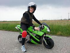 io al primo giro in mini moto