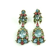 1950's Hollycraft Multi Colored Earrings ($428) ❤ liked on Polyvore