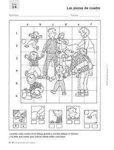 Ficha de memoria: Segundo grado Hidden Pictures, Preschool Worksheets, Creative Thinking, Social Studies, Religion, Diagram, Teaching, Education, Kids