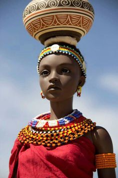 African beauty doll (No country or group was provided, but I think she may be Samburu.)