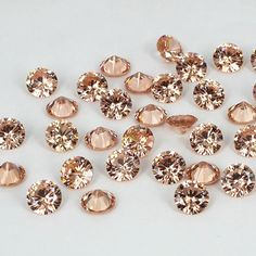 Champagne Color Stones Round Pointback Design Cubic Zirconia Beads Supplies For Jewelry 3D Nail Art Decorations DIY 4-18mm #Affiliate