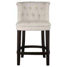 Found it at cymax.com - Uttermost Kavanagh Tufted Counter Stool