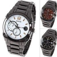 (SINOBI) Men's Stainless Steel Quartz Watch Wristwatch with Decorative Sub-dial - Online Shop! : Online Shop!