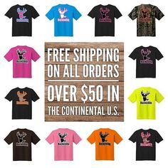 FREE SHIPPING on all orders over $50 in the continental U.S.  All you see here and more available at BuckedUpApparel.com  #BuckedUp #gogreen #redneckgirl #redneck #buck #countrylivin #country #hunting #deerhunting #fishing #deer #yeeyee #countrygirl #mud #mudding #hunt247 #hunt #realtree #realtreecamo #realtreelife #realtreegirl #lovecamo #shescountry #countrylove #lovecountry
