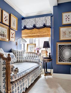 blue & white - Alexa Hampton design