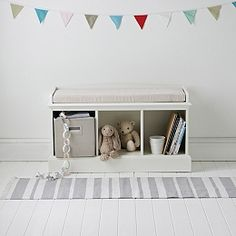Buy Classic 3 Cube Storage Bench - from The White Company