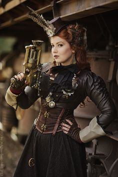Wha the well-dressed lady might sport ..... Steampunk Costume Ideas - 30 Creative DIY Steampunk Costumes