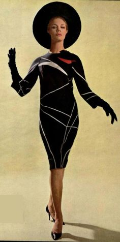 1963 House of Dior- the shape style and cut are fantastic! So classic!