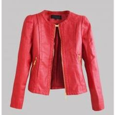 [ 43% OFF ] Starlist Woman Faux Jacket Fashion Long Sleeve Metal Zipper O-Neck Cool Motorcycle Leather Jacket Fashion Pocket Outwear