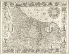Kaart van de Nederlanden, 1631, Henricus Hondius, 1631
