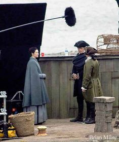 Fan Pics | Sam Heughan and Caitriona Balfe on Outlander Season 3 Set in Dunure | January 30, 2017 x