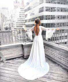 Like an Angel. Boho dreams meets city chic with this new gown from the Romantique collection! Wedding Dress Gallery, City Chic, Dream Wedding Dresses, Bridal Style, Pop Up, Vintage Inspired, White Dress, Wedding Inspiration, Gowns