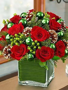Shop Christmas flowers & gifts for delivery to celebrate the season! Find beautiful Christmas floral arrangements and holiday flowers. Christmas Flower Arrangements, Holiday Centerpieces, Christmas Flowers, Floral Centerpieces, Xmas Decorations, All Things Christmas, Christmas Time, Floral Arrangements, Christmas Wreaths