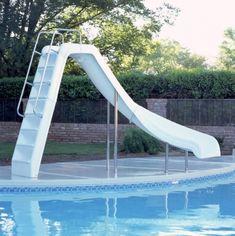 backyard pool with slides. Inter-fab Wildride Pool Slide Backyard Pool With Slides S
