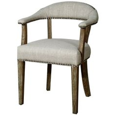 Check out this item at One Kings Lane! Bernadette Chair, Stone