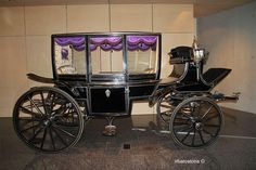 Museum of Funeral Carriages and Hearses. The collection of luxury carriages totals 19 pieces. 13 horse-drawn hearses, 6 carriages accompanying and 3 motor cars.