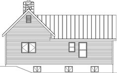 Country Ranch House Plan 49193 Rear Elevation