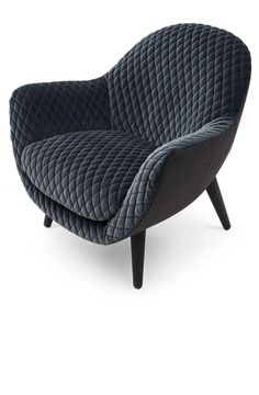 Mad Queen chair by Marcel Wanders for Poliform  in Matelasse-Gibson quilted velvet