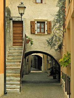 bluepueblo:  Ancient Portal, Torri del Benaco, Italy  photo via...