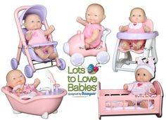 """5""""in Mini Lots to Love Nursery Dolls by Berenguer (Berenguer, Dolls, Lots to Love)   Berenguer Dolls   Dolls so Real Inc"""