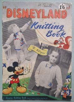 Disneyland Knitting Book 1949 Patterns 1940s by sewmuchfrippery