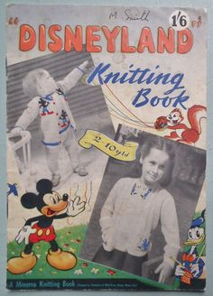 Disneyland Knitting Book 1949 Patterns 1940s by sewmuchfrippery