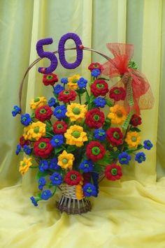 Flores de crochê.  Seleção de inspiração (36) (465x700, 244KB)