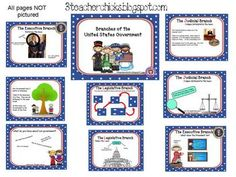 Use this interactive smartboard lesson to introduce your kiddos to the 3 branches of the U.S. Government: Legislative, Executive, and Judicial....