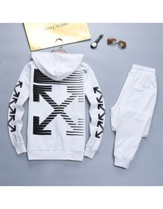 Off-White Tracksuits For Men White Tracksuit, Off White Coat, Winter T Shirts, White Casual Shoes, White Boys, White Hoodie, Long Hoodie, Hooded Sweatshirts, Cool Outfits