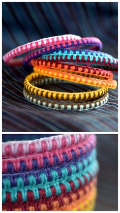 DIY Macrame Bangle Bracelet Tutorial from Mary & Patch.This DIY bracelet is actually a bangle with macrame knots tied around it. I actually found the tutorial illustration at this site very confusing (and so did others). So if you are confused by the...