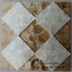 Aliexpress.com: CAESAR DECO MATERIAL CO., LTD üzerinde Güvenilir Yerleşik renk tedarikçilerden doğal capiz kabuk fayans, bal + beyaz renk karışık, mdf tahta destekçisi #l028 Satın Alın