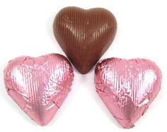 Chocolate Foil Hearts (Pink)  #nutsdotcom  #wedding