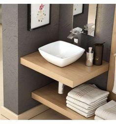 LAVABO GERBERA Bathroom Under Stairs, Basement Bathroom, Bathroom Flooring, Simple Bathroom, Modern Bathroom, Small Toilet Room, Toilet Sink, Bathroom Floor Plans, Small Vanity