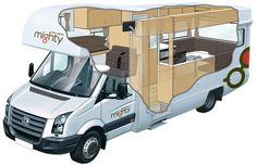 Double Up - 4 Berth Campervan & Motorhome Hire - Mighty Australia