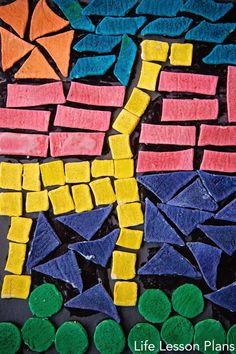 Salt Dough Mosaic Tiles - fantastic art idea from @Brigette Swafford @ Life Lesson Plans !