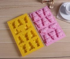 DGI MART Replacement Refrigerator Trays 11Cavity Adorable Little Bear Shaped Ice Chocolate Sugar Cake Silicone Mini Cube TrayColour by Random Color Pink or Yellow Little Bear Model >>> Details can be found by clicking on the image.
