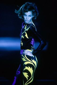 Christy Turlington for Gianni Versace Couture 90's Runway Show