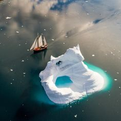"""Photo @ChrisBurkard The Sermilik fjord is one of the deepest on Greenland's East coast. Lined with…"""""""