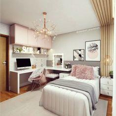 Teen Bedroom Designs, Bedroom Decor For Teen Girls, Room Design Bedroom, Teen Room Decor, Room Ideas Bedroom, Home Room Design, Small Room Bedroom, Small Teen Room, Cool Teen Bedrooms