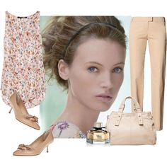Soft summer work outfit, created by betiana-francia on Polyvore