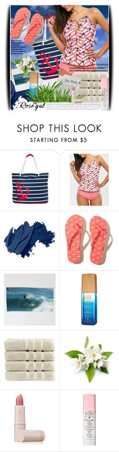 """""""Rosegal contest: Anchor Print Keyhole Backless Tankini Swimsuits"""" by ksenian-74 ❤ liked on Polyvore featuring Rugged Equipment, Bobbi Brown Cosmetics, Hollister Co., Alterna, Christy, Lipstick Queen and Too Faced Cosmetics"""
