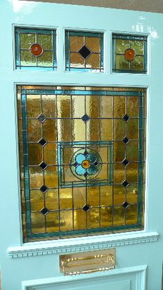 Leaded glass front door ideas for 2019 Stained Glass Door, Stained Glass Designs, Stained Glass Projects, Leaded Glass, Mosaic Glass, Victorian Stained Glass Panels, Front Door Lighting, Victorian Front Doors, Glass Art Pictures