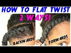 FLAT TWIST TUTORIAL on NATURAL HAIR | TWO WAYS!!! | BEGINNER FRIENDLY ! | THE CURLY CLOSET - YouTube
