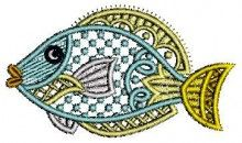 Tropical Fish Lace Embroidery Design free design machine embroidery christmas projects